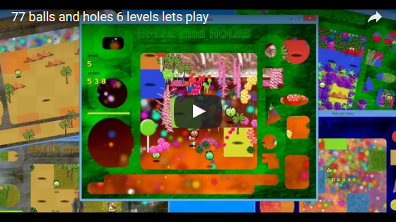 77 review balls and holes 6 levels lets play