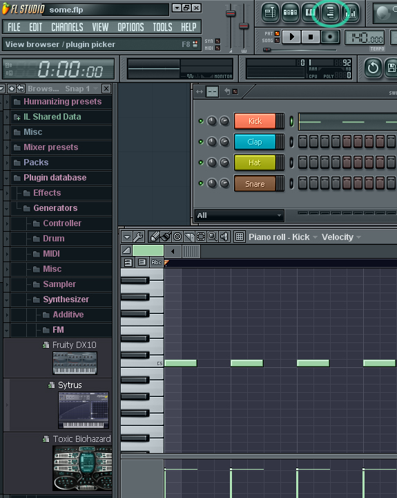 fl studio - view browser / plugin picker