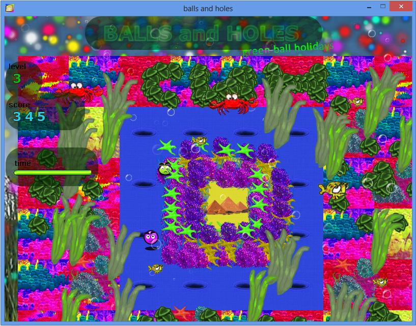 Balls and Holes игра - уровень подводный мир / Balls and Holes game - undersea world level