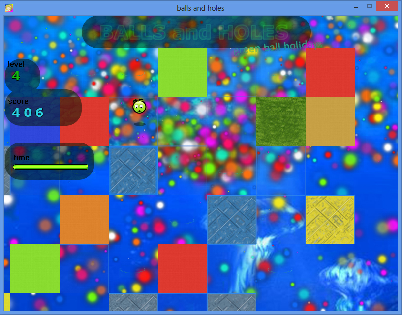 Balls and Holes игра - уровень космос / Balls and Holes game - space level