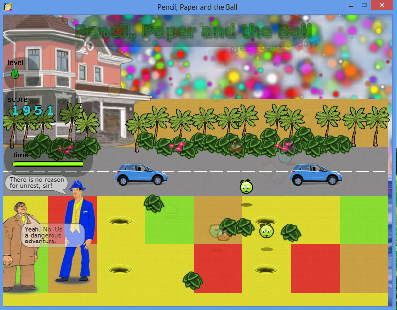 Pencil Paper and the Ball PC game / Шар Бумага Карандаш PC игра - город / city