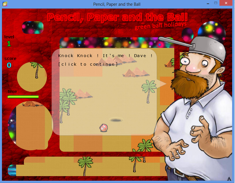 Pencil Paper and the Ball PC game / Шар Бумага Карандаш PC игра - Crazy Dave