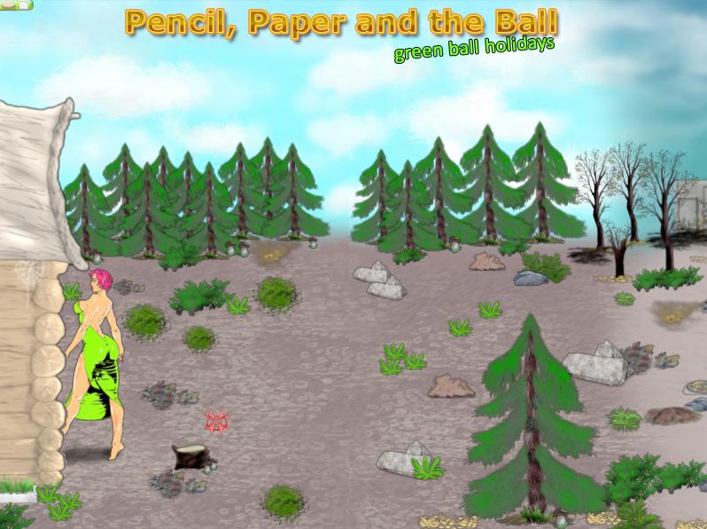 Pencil Paper and the Ball PC game / Шар Бумага Карандаш PC игра - Bridget adventure / Приключения Бриджит