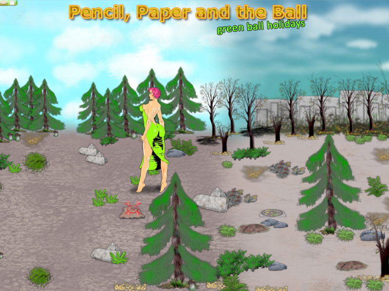 Pencil Paper and the Ball PC game / Шар Бумага Карандаш PC игра - Bridget adventure / Приключения Бриджит