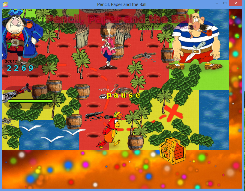 Pencil Paper and the Ball PC game / Шар Бумага Карандаш PC игра - Treasure Island / Остров Сокровищ