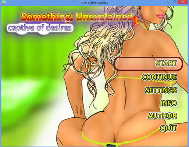 something: unexplaned 2 captive of desires main menu